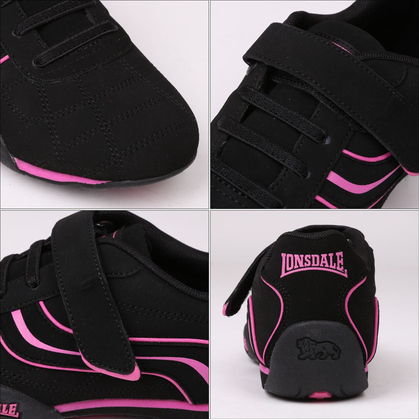 Lonsdale-Kids-Camden-Child-Boys-Trainers-Lace-Up-Casual-Sports-Shoes-Footwear thumbnail 43
