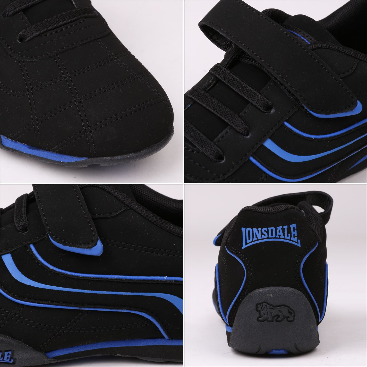 Lonsdale-Kids-Camden-Child-Boys-Trainers-Lace-Up-Casual-Sports-Shoes-Footwear thumbnail 49