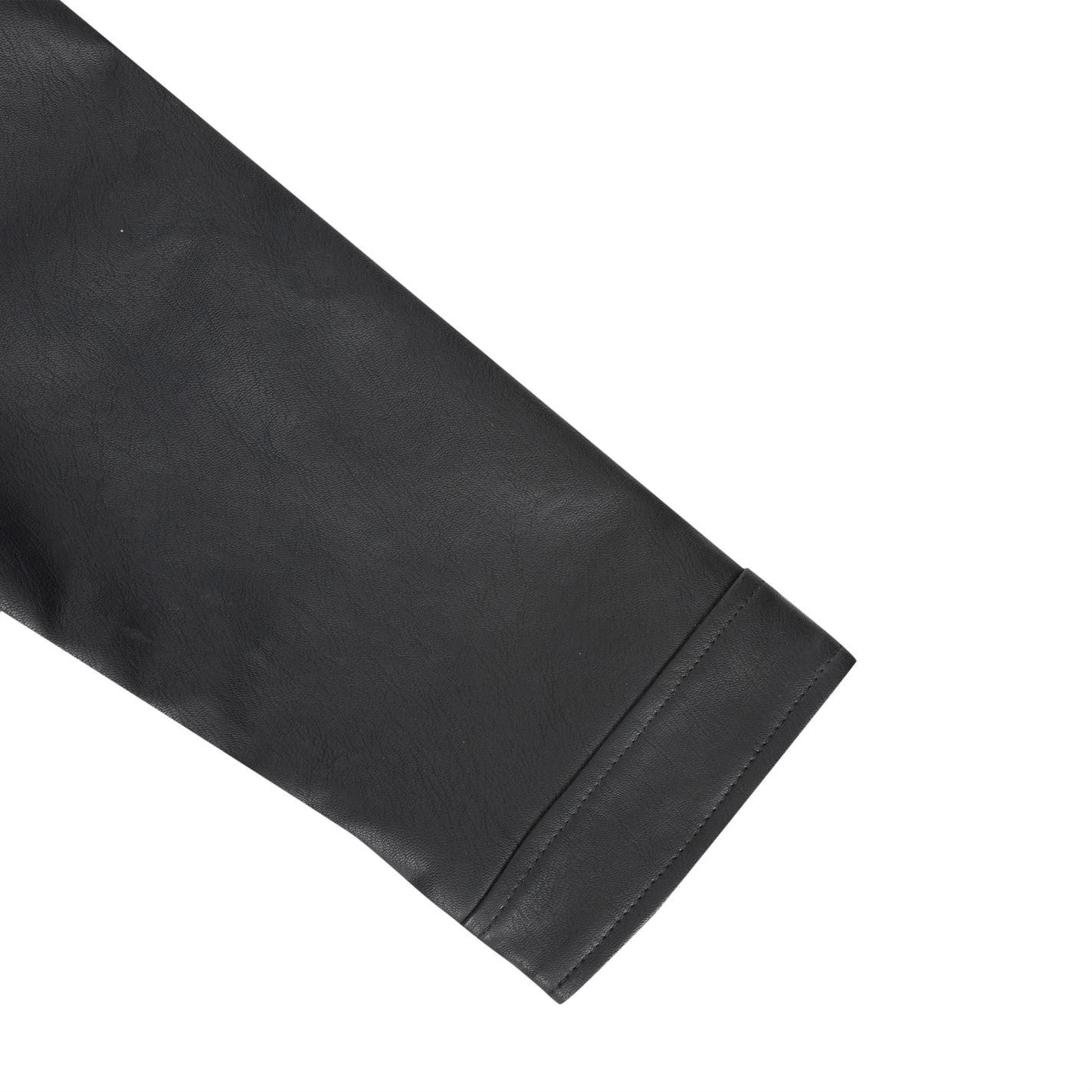 14c0d08ef LEE COOPER MENS PU Biker Jacket Leather Coat Top