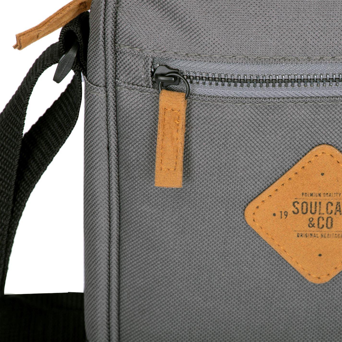 Unisex-SoulCal-Mini-Gadget-Bag-Zip-New thumbnail 8